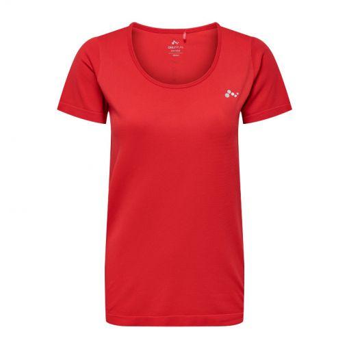Only dames t-shirt Ora Circular SS Top - Rood