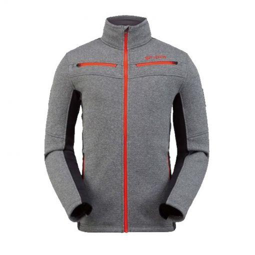 Spyder heren fleece vest Wengen Encore Full Zip - 029 Ebony