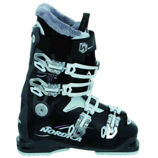 Nordica dames skischoen Sportmachine ST W - 735 Schwarz/Viola