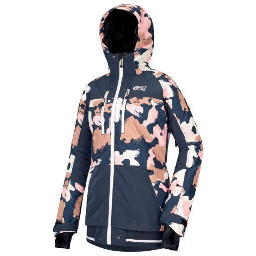 Picture dames ski jas Lander Print Jacket - Pink Painter