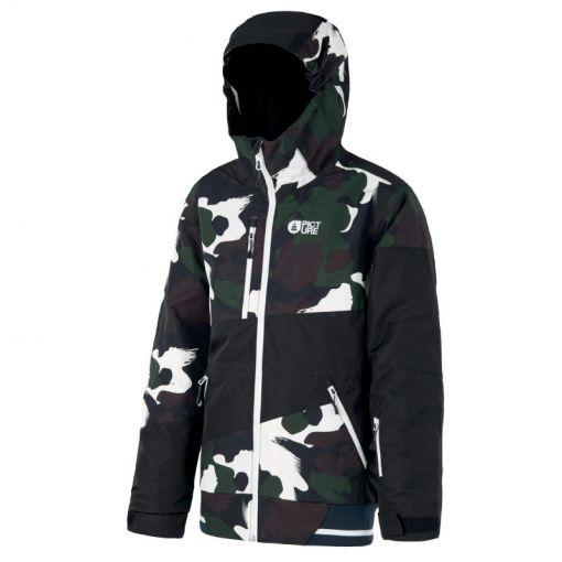Picture jongens ski jas Slope Jacket - Black Painter