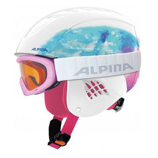Alpina junior skihelm + skibril Carat - 51 Design/Periwinkle