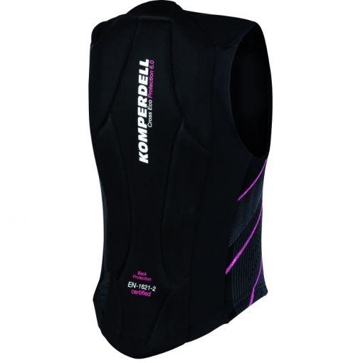 Komperdell rugprotectie dames Super Eco - 209 Schwarz/Pink