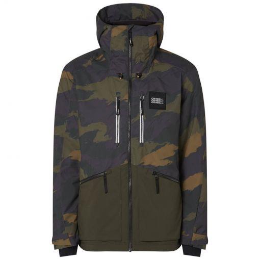 O'Neill heren ski jas Textured Jacket - 6900 Green Aop