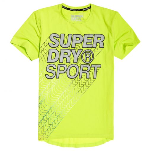 Superdry heren t-shirt Core Gradient Graphic SS - 55E Acid Lime
