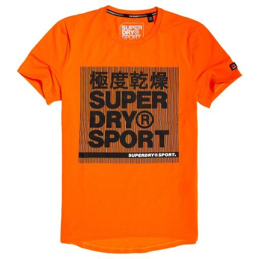 Superdry heren t-shirt Core Graphic SS - E6F Inferno