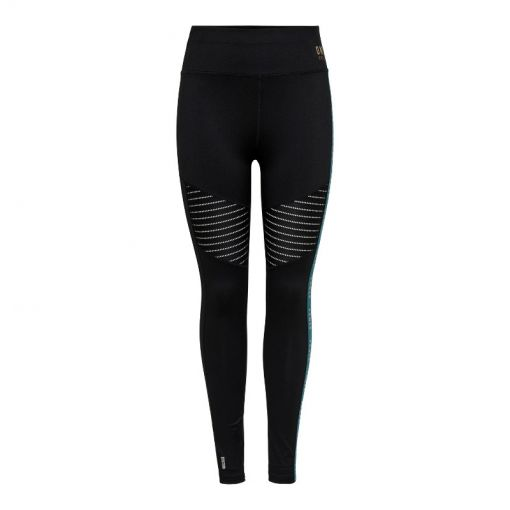 Only dames fitness tight Nahla HW Athleisure tight - 177911001 Black/W. SHADED SPRU