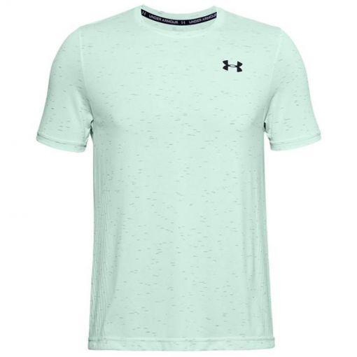Under Armour heren t-shirt Seamless SS Tee - 403 Seaglass Blue