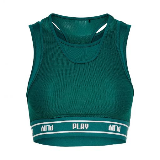 Only dames sportbh DAI Sports Bra SP - 177960001 Shaded Spruce/W. WHI
