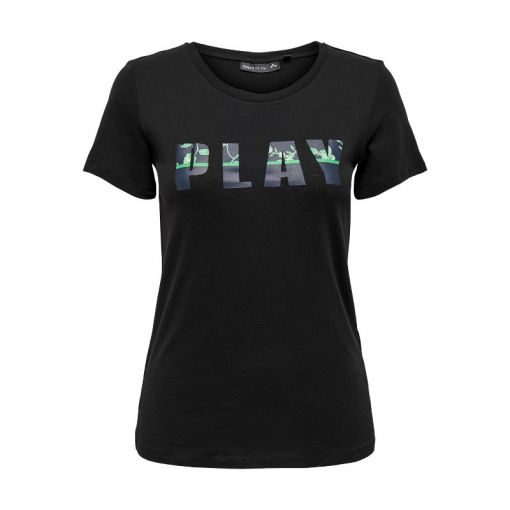 Only dames shirt Donelle Fitted SS Tee SP - 177911001 Black/W. MARITIME BL
