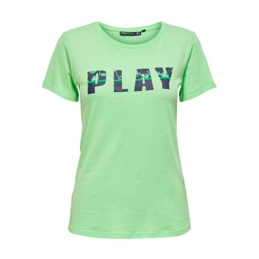 Only dames shirt Donelle Fitted SS Tee SP - 238195001 Green Ash/W. MARITIM