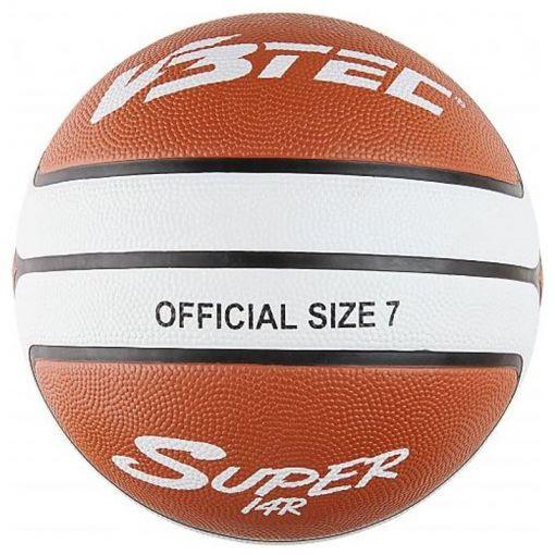 V3Tec Super 14 Basketbal - Bruin/Wit