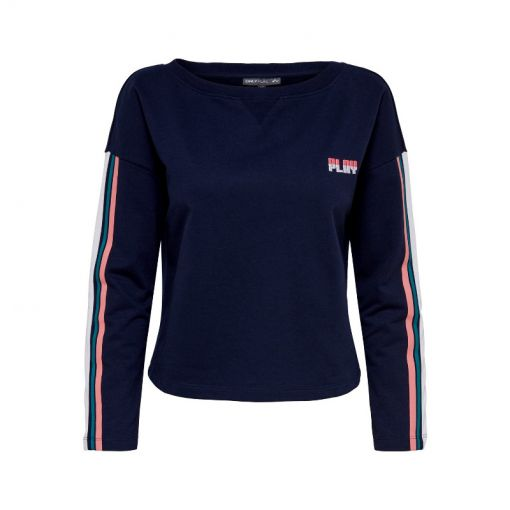 Only dames trui Delight Short Boatneck Sweat SP - Blauw