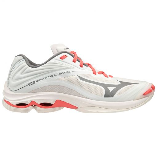 Mizuno dames indoorschoen Wave Lightning Z6 - 55 Snow/Qshade