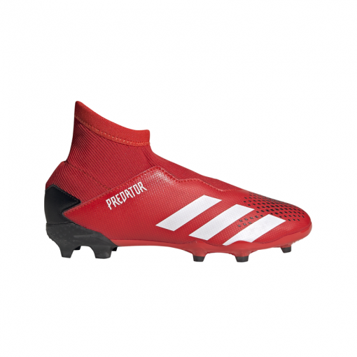Adidas junior voetbalschoen Predator 20.3 LL FG J - ACTRED/FTWWHT/CBL ACTRED/FTWWH