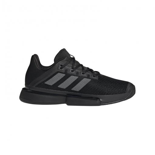 Adidas heren schoen SoleMatch Bounce M - CBLACK/NGTMET/CBL CBLACK/NGTME
