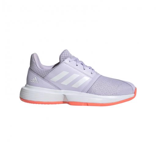 Adidas junior tennisschoen CourtJam xJ - PRPTNT/FTWWHT/SIG PRPTNT/FTWWH