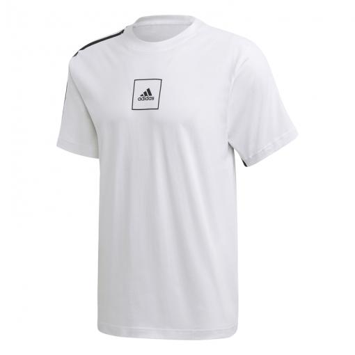 Adidas heren t-shirt M 3S Tape Tee - Wit