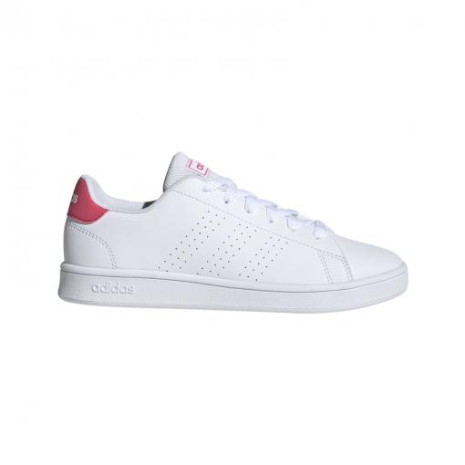 Adidas junior schoen Advantage K - Ftwht/Reapnk