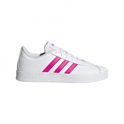 Adidas junior schoenen Vl Court 2.0 K - Ftwht/Shopink