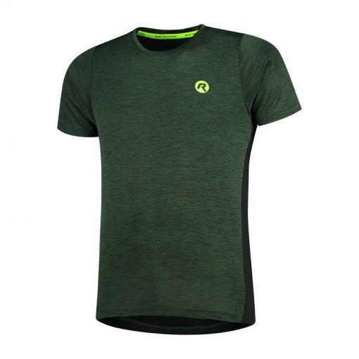 Rogelli heren hardloopshirt Matrix - Groen/Zwart/Fluor