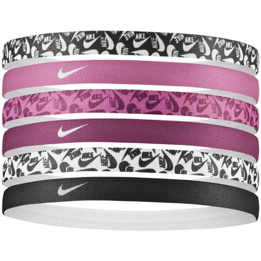 NIKE PRINTED HEADBANDS 6PK - 026 BlaFusFus