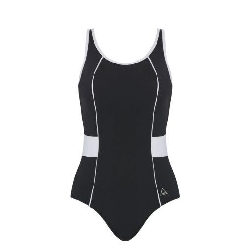 Tweka dames badpak Swimsuit Soft Cup - 2063 Black