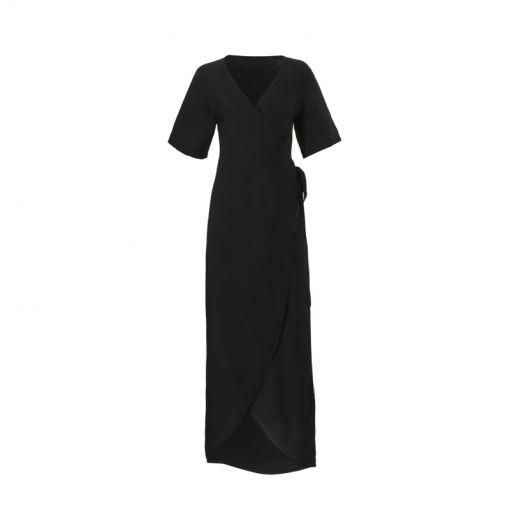 Wow dames strandjurk Wrap Dress - 4350 Black