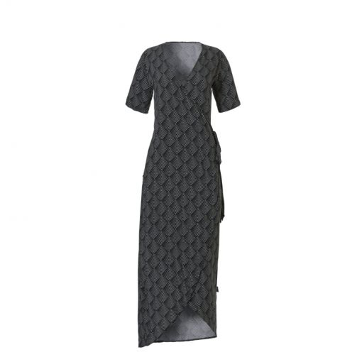 Wow dames strandjurk Wrap Dress - 3026 Graphic Shells