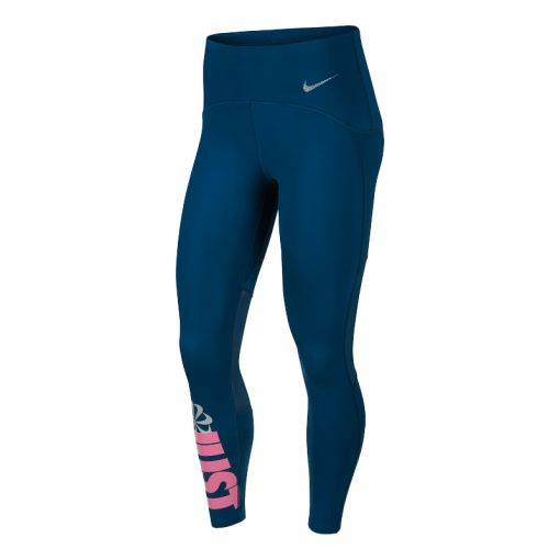 Nike dames tight Speed 7/8 Running - 432 VALERIAN BLUE/REFLECTIVE S