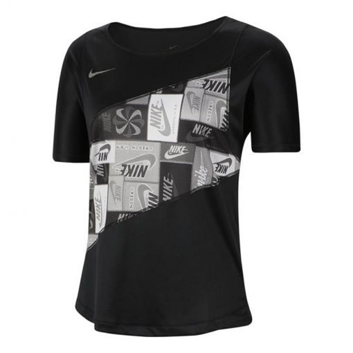 Nike dames t-shirt Women's Running Top - Zwart