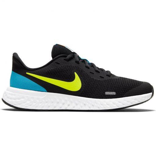 Nike junior sneaker Revolution 5 Big Kids' Run - 076 BLACK/LEMON VENOM-LASER BL