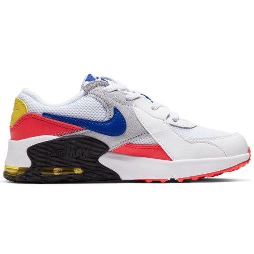 Nike meisjes schoenen Air Max Excee Big Kids' - 101 WHITE/HYPER BLUE-BRIGHT CA