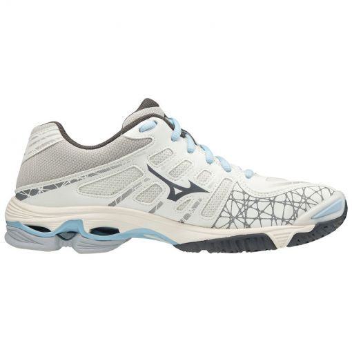 Mizuno dames indoorschoen Wave Voltage - 18 Swhite/Darkshadow