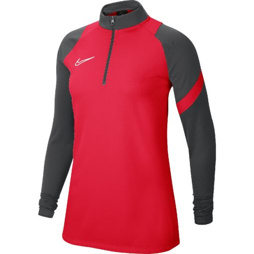 Nike dames shirt Dry Academy20 Dril Top - 635 BRIGHT CRIMSON/ANTHRACITE/