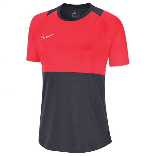 Nike dames t-shirt Dry Academy20 Top SS - 066 ANTHRACITE/BRIGHT CRIMSON/