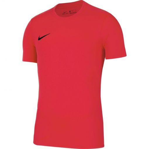 Nike heren t-shirt Dri-Fit Park VII Men's Soccer - 635 BRIGHT CRIMSON/BLACK