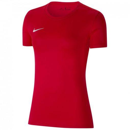 Nike dames t-shirt Dri-Fit Park VII Women's Soccer - 657 UNIVERSITY RED/WHITE