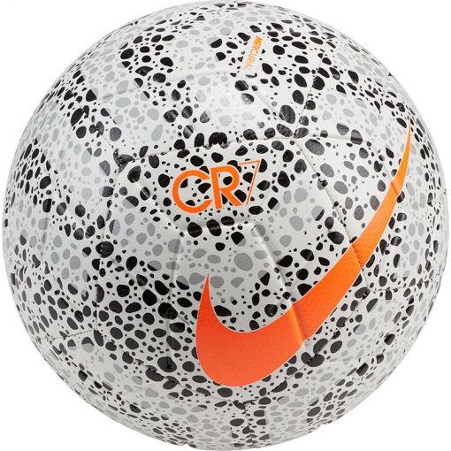 NIKE STRIKE CR7 SOCCER BALL - 100 WHITE/BLACK/TOTAL ORANGE