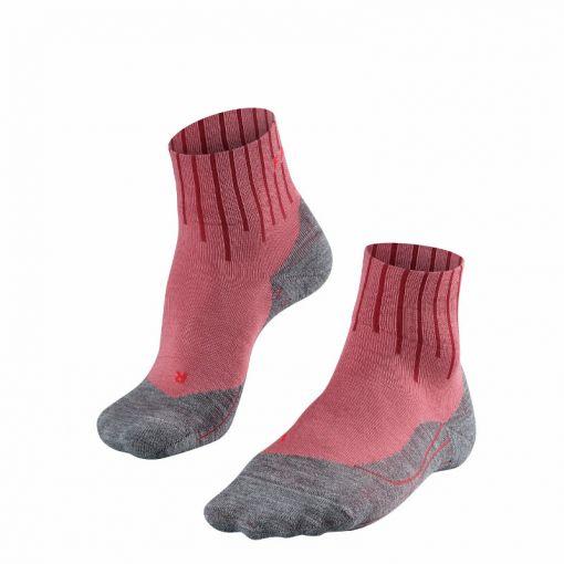 Falke dames sokken TK5 Short Equalizer - 8215 mixed berry