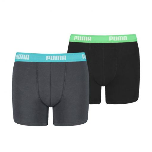 Puma jongens boxers Basic Boxer 2 Pack - 376 india ink / turquoise