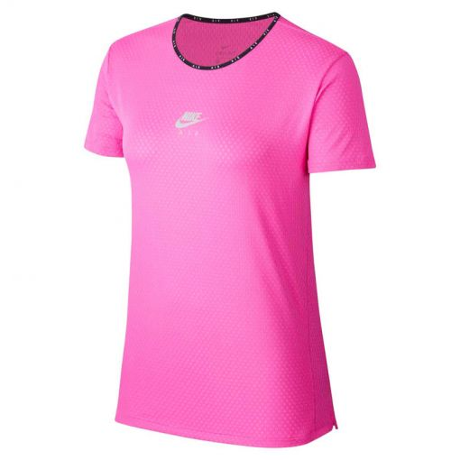 Nike dames t-shirt Air Women Short Sleeve - 601 Fire Pink