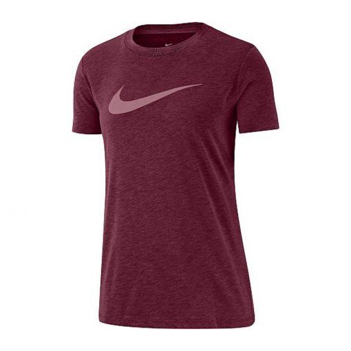 Nike dames t-shirt Dri-Fit Women Training - 638 Dark Beetroot