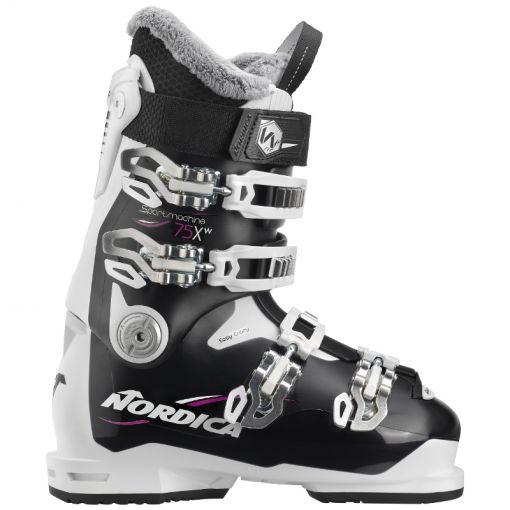 Nordica dames skischoen Sportmachine 75 X W - 9E6 Black/White/Fucsia