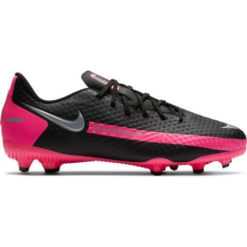 Nike junior voetbalschoen Phantom Gt Academy - 006 Black/Metallic Silver