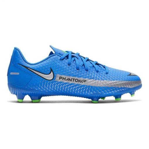Nike junior voetbalschoen Phantom Gt Academy - 400 Photo Blue/Metallic Silver