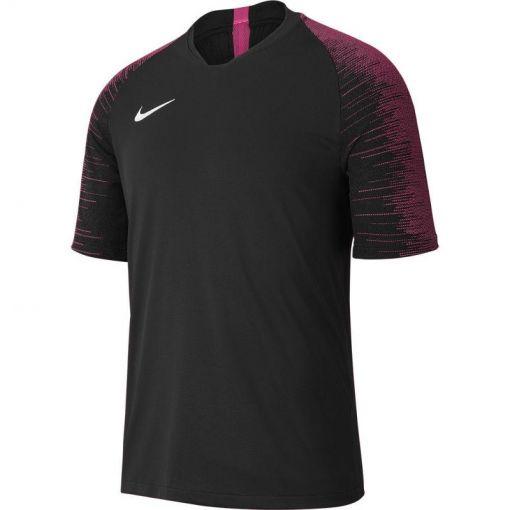 Nike heren shirt Dri-Fit Strike Jersey SS - 011 BLACK/VIVID PINK/WHITE