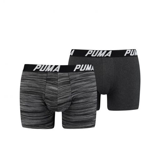 Puma heren boxers Spacedye Stripe Box - Zwart