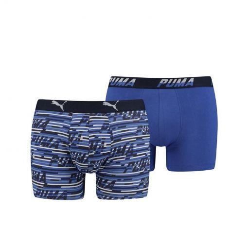Puma heren boxers Logo Aop - 010 Blue Combo