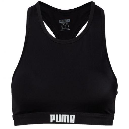 PUMA SWIM WOMEN RACERBACK SWIM TOP - Zwart